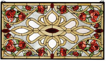 Meyda Tiffany 67139 Bed of Roses Tiffany Stained Glass Window