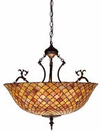 Meyda Tiffany 67381 FISHSCALE Tiffany Antique Drop Lighting