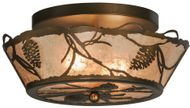 Meyda Tiffany 67400 Whispering Pines Country Antique Copper Overhead Lighting Fixture