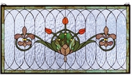 Meyda Tiffany 68018 Tulip & Fleurs Tiffany Stained Glass Window