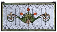 Meyda Tiffany 68019 Tulip & Fleurs Tiffany Stained Glass Window