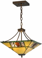 Meyda Tiffany 68064 Pinecone Ridge Tiffany Antique Copper Drop Ceiling Lighting