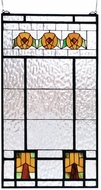 Meyda Tiffany 68104 Aurora Dogwood Tiffany Stained Glass Window