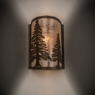 Meyda Tiffany 68169 Tall Pines Antique Copper Finish 8 Wide Lighting Wall Sconce