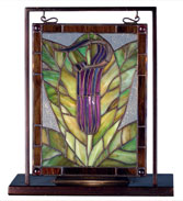 Meyda Tiffany 68552 Jack-in-the-Pulpit Tiffany Stained Glass Window