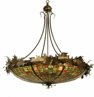 Meyda Tiffany 68577 Greenbriar Oak Tiffany Antique Copper Ceiling Light Pendant
