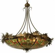 Meyda Tiffany 68618 Greenbriar Oak Tiffany Pendant Lighting Fixture