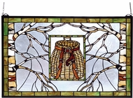 Meyda Tiffany 69502 Pack Basket Tiffany Stained Glass Window