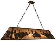 Meyda Tiffany 69613 Pool Hall Country Antique Copper Kitchen Island Light Fixture