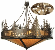 Meyda Tiffany 69974 Deer at Dusk Country Cafe-Noir Drop Lighting Fixture