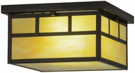 Meyda Tiffany 70040 Hyde Park Double Bar Mission Mission Light Beige Spectrum Craftsman Fluorescent Flush Lighting