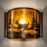 Meyda Tiffany 70703 Deer at Lake Mission Antique Copper Wall Sconce