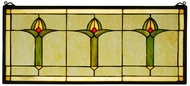 Meyda Tiffany 71309 Arts & Crafts Bud Tiffany Stained Glass Window