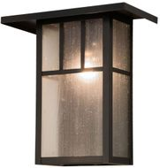Meyda Tiffany 72327 Hyde Park Mission Craftsman Brown Outdoor Wall Sconce Lighting