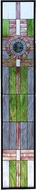 Meyda Tiffany 72445 Parrish Tallwood Pearl Tiffany Hanging Stained Glass Panel