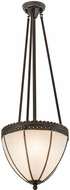 Meyda Tiffany 72607 Shansky Tiffany Highlighted Craftsman Brown Pendant Hanging Light