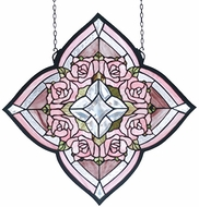 Meyda Tiffany 72642 Jeweled Rose Ring of Roses Stained Glass Panel