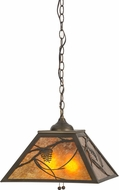 Meyda Tiffany 73489 Whispering Pines Country Antique Copper / Amber Mica Pendant Lamp