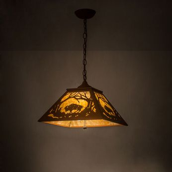 Meyda Tiffany 73995 Buffalo at Dawn Rustic Earth Hanging Light Fixture