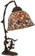 Meyda Tiffany 74046 FISHSCALE Antique Accent Table Lamp