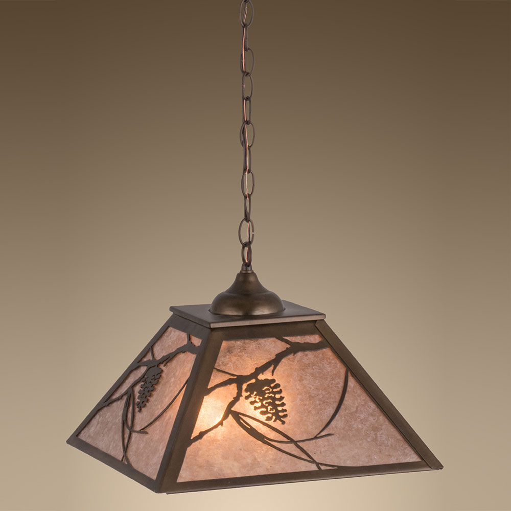 Meyda Tiffany 76316 Whispering Pines Country Antique Copper / Silver ...
