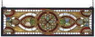 Meyda Tiffany 77908 Evelyn in Topaz Tiffany Hanging Transom Stained Glass Panel