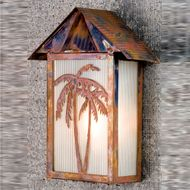 Meyda Tiffany 77967 Tropical Floral Country Vintage Copper Outdoor Light Sconce