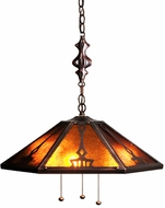 Meyda Tiffany 78076 Grenway Tiffany Bronze Lighting Pendant