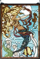 Meyda Tiffany 78086 Mermaid of the Sea Tiffany Hanging Stained Glass Art