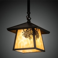 Meyda Tiffany 79477 Stillwater Craftsman Brown Hanging Pendant Light