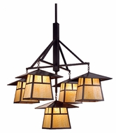 Meyda Tiffany 79730 Stillwater T Mission Craftsman 84  Tall Exterior Ceiling Chandelier