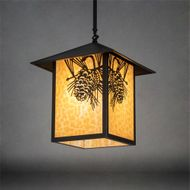Meyda Tiffany 80797 Seneca Mission Craftsman Brown Entryway Light Fixture