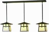 Meyda Tiffany 81052 Stillwater Cross Mission Craftsman 48  Wide Outdoor Island Lighting