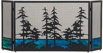 Meyda Tiffany 81106 Tall Pines Country Fireplace Screen