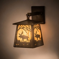 Meyda Tiffany 81342 Moose at Dawn Country Antique Copper Wall Sconce Lighting