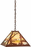 Meyda Tiffany 81412 Quiet Pond Country Rust Ceiling Pendant Light