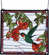 Meyda Tiffany 81540 Sweet Hummingbird Tiffany Hanging Stained Glass Art