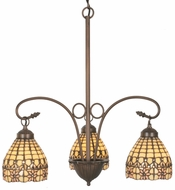 Meyda Tiffany 81866 Victorian Flourish Tiffany Mini Ceiling Chandelier