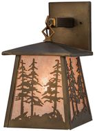 Meyda Tiffany 82114 Tall Pines Antique Copper Finish 7.5 Wide Wall Light Sconce
