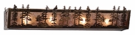 Meyda Tiffany 82132 Tall Pines Antique Copper Finish 5.5  Tall Bathroom Lighting Fixture