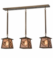 Meyda Tiffany 82389 Whispering Pines Antique Copper/Silver Mica Kitchen Island Lighting