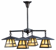 Meyda Tiffany 82503 Stillwater T Mission Craftsman Antique Finish 31  Wide Outdoor Chandelier Light