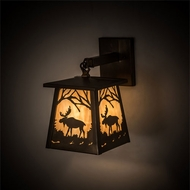 Meyda Tiffany 82636 Moose at Dawn Country Antique Copper Lighting Wall Sconce