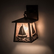 Meyda Tiffany 82646 Sailboat Rustic Antique Copper Wall Lighting Sconce