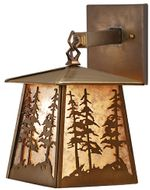 Meyda Tiffany 82647 Tall Pines Antique Copper Finish 12.5 Tall Hanging Wall Lamp