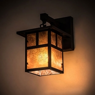 Meyda Tiffany 89355 Hyde Park Craftsman Craftsman Brown Wall Sconce Lighting