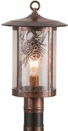 Meyda Tiffany 90623 Fulton Winter Pine Rustic Zasdy Vintage Copper Outdoor Post Lighting