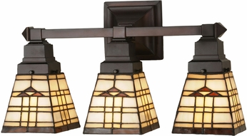 Meyda Tiffany 98195 Arrowhead Mission Tiffany Beige Amber Lighting For Bathroom