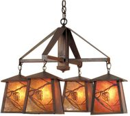 Meyda Tiffany 98359 Whispering Pines Country Rust Hanging Chandelier