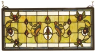 Meyda Tiffany 98451 Cottage Lancaster Stained Glass Panel